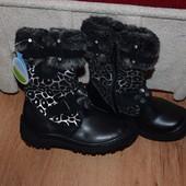 Зимние ботинки, на теплом меху 29р.(17.5-18см)