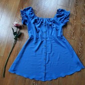 Красивий колір, оригінальне плаття - сарафанчик, гудзики до низу, Primark, 20, Батал ☀️