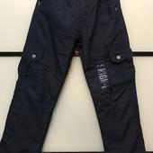 Тёплые подростковые брюки на10 лет р.140см на флисе