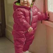 Комбинезон демисезонный розовый для девочки 4-6 мес