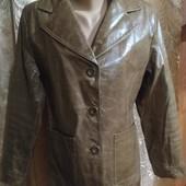 Куртка пиджак кожа размер L
