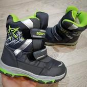 Зимние Термо ботинки На молнии.Для мальчика.Не пропустите!