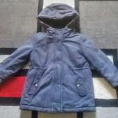 Очень тёплая куртка парка на меху, на 4 года!