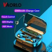 Беспроводные наушники tws R3 с цифровым зарядным павербанком Bluetooth