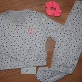 Пижама-домашний костюм с резинкой для волос!Primark,р.2-3 / 3-4 / 4-5 / 6-7лет.Размер на выбор