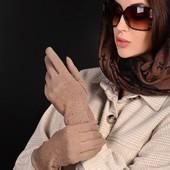 Женские красивые рукавицы с начесом. Размер 8 (л). Количество ограничено.