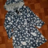 Плюшевый халат George, с карманами. 4-5л / 104-110см. С биркой!