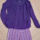 Легкая рубашка блуза на подкладке