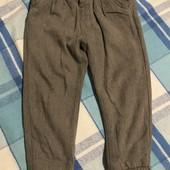 Теплі на трикотажній підкладці штани Next на 4-5 років зріст 110
