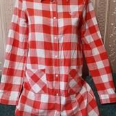 100% котон, модная рубашка платье бренд Нема, на ХС-С отличное состояние