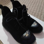 Женские замшевые ботиночки весна-осень .Размер 36.
