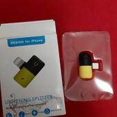 Адаптер Lightning Music & Charging splitter позволяет одновременно (слушать музыку) и заряжать айфо
